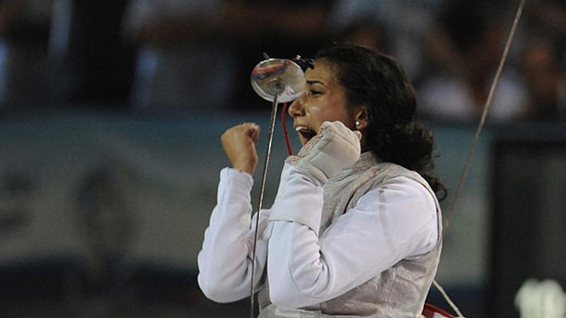 ذهبية لإيناس البوبكري في بطولة إفريقيا للمبارزة بباماكو