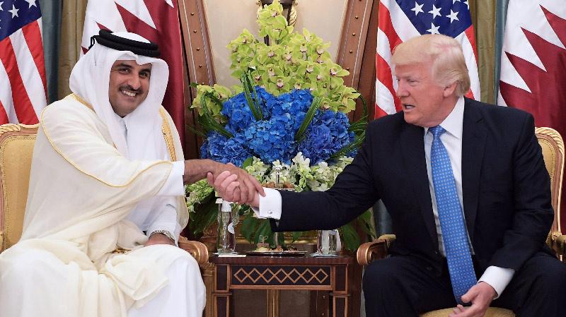 ترامب لأمير قطر