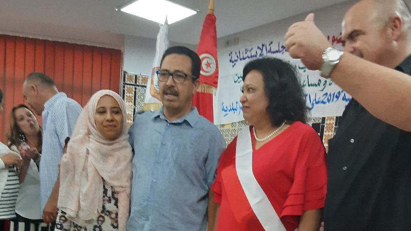 بسمة معتوق عن نداء تونس تفوز برئاسة بلدية نابل
