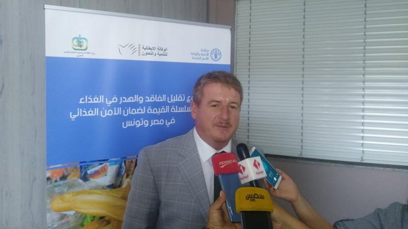 أكد مدير مكتب منظمة الأغذية والزراعة التابع للأمم المتحدة في تونس  فيل