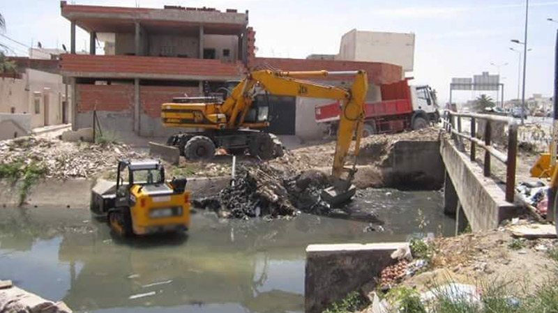 منوبة: انطلاق أشغال تهيئة مجرى وادي قريانة