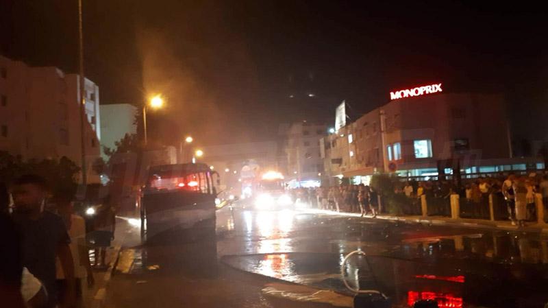 النيران تندلع في حافلة في المروج