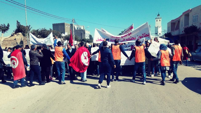 ملولش: تصعيد وغلق للطريق وتدهور للحالة الصحية للمضربين عن الطعام