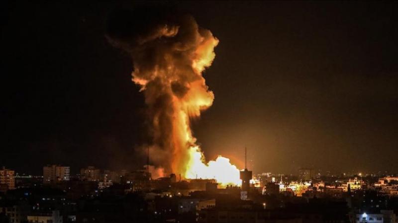 جيش الاحتلال الإسرائيلي يشن غارات على قطاع غزة