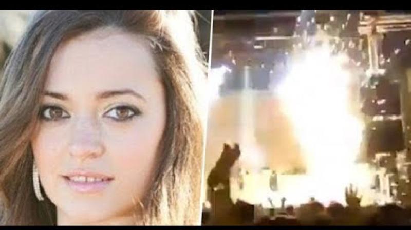 وفاة مغنية إسبانية بعد إشتعالها على المسرح