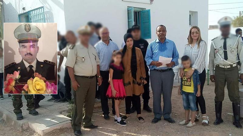 تطاوين: أمنيون يرافقون أبناء الشهيد بولعراس الرداوي إلى المدرسة