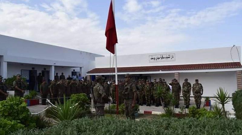 قافلة صحية عسكرية تونسية جزائرية في ساقية سيدي يوسف