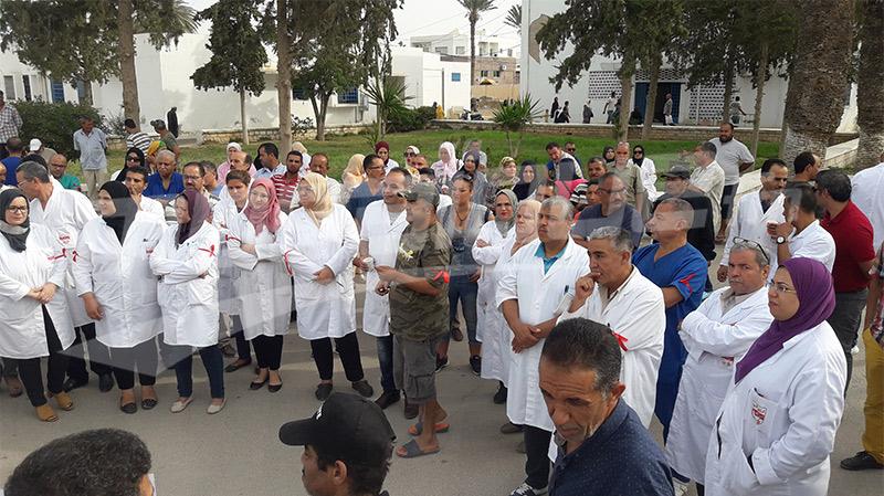 وقفات احتجاجيةللإطارات الطبية وشبه الطبية تمهيدا لإضراب عام جهوي