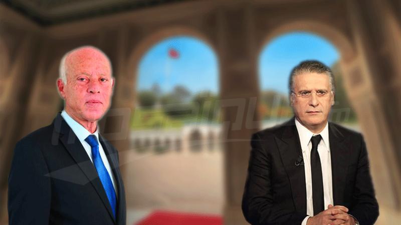مساعي حثيثة لإجراء مناظرة تلفزية بين قيس سعيّد ونبيل القروي