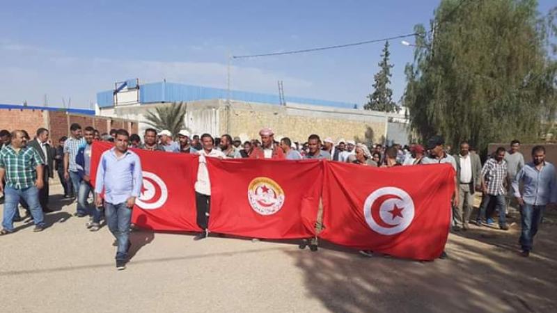 تطاوين: غلق شركة البيئة بسبب احتجاجات الأعوان