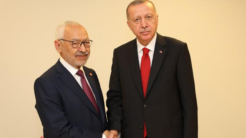 لرئيس التركي - راشد الغنوشي