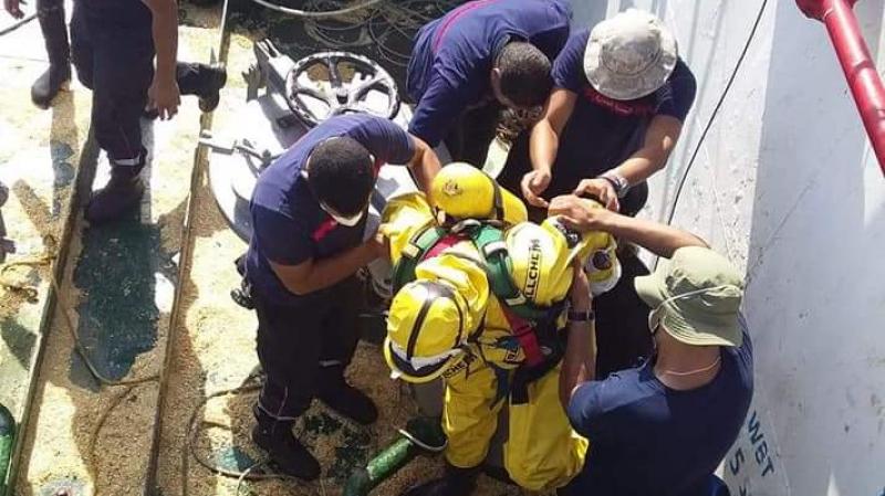 الحماية تنجح في إنتشال جثتين داخل مخزن باخرة جزائرية في بنزرت