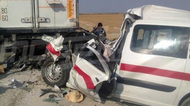 جندوبة: قتلى وجرحى في إصطدام عنيف بين نقل ريفي وشاحنة