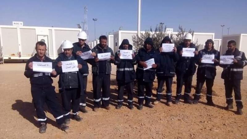 تطاوين: عمال شركة الجنوب للخدمات في إضراب جوع
