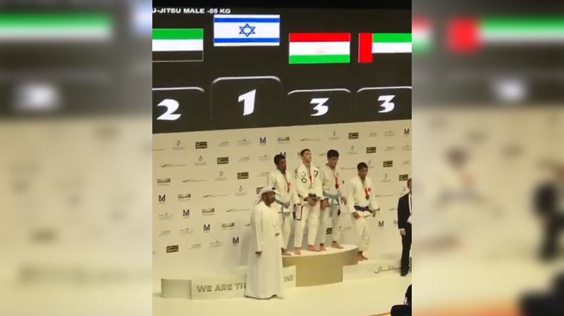 النشيد الوطني للكيان الصهيوني يعزف من جديد في أبو ظبي