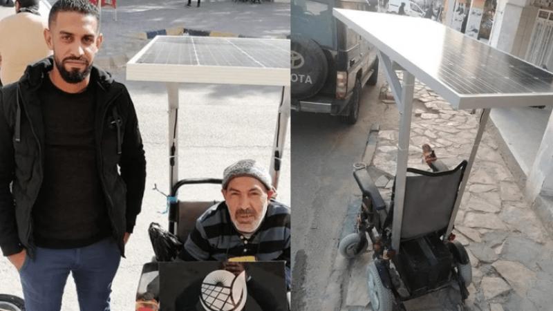 من أجل حامل إعاقة: يطوّر كرسيا متحركا ليعمل بالطاقة الشمسية