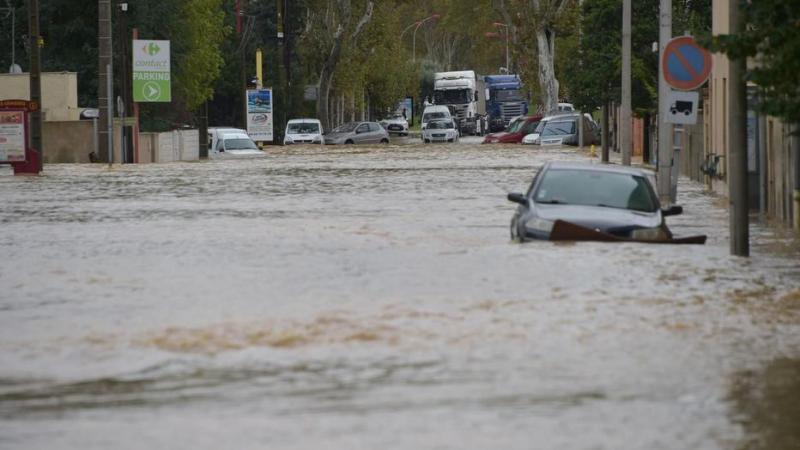 4 قتلى في فيضانات بجنوب فرنسا