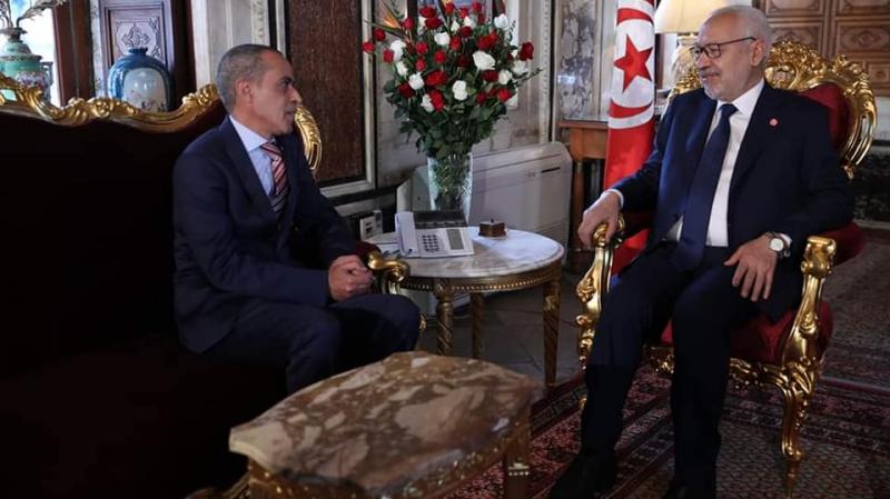 الغنوشي يستقبل سفير الجزائر بتونس