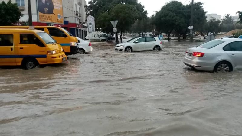 أمطار غزيرة في سوسة