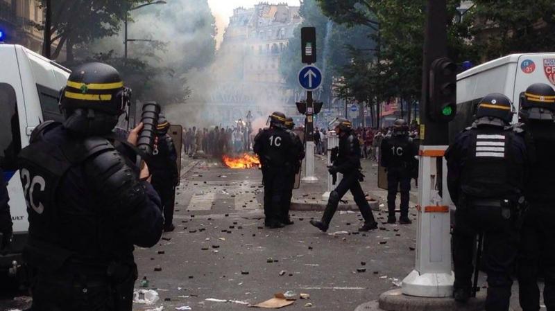 مواجهات حادّة بين الشرطة و متظاهرين في باريس