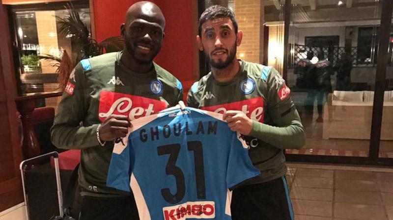 النجم الجزائري غلام ولاعبونابولي يدعمون النادي الإفريقي