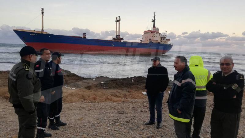 جنوح باخرة شحن طوغولية في بنزرت: تشكيل خلية أزمة