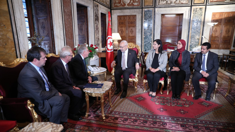 الغنوشي يستقبل وفدا عن اللجنة الأوروبية للديمقراطية