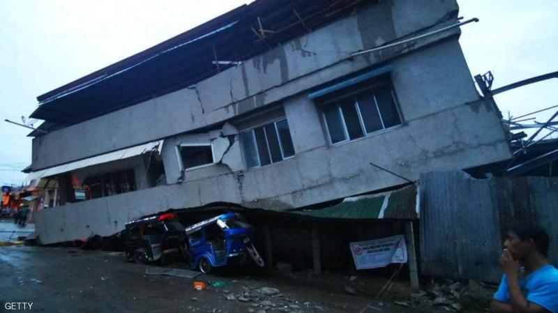 """مشاهد """"مرعبة"""" لزلزال الفلبين العنيف"""