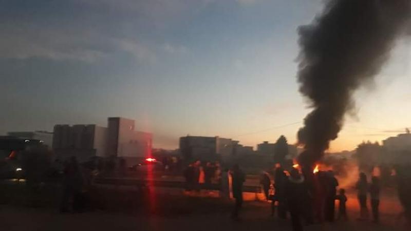 القلعة الصغرى: إحتجاجات بعد مقتل طفل بالطريق الحزامية