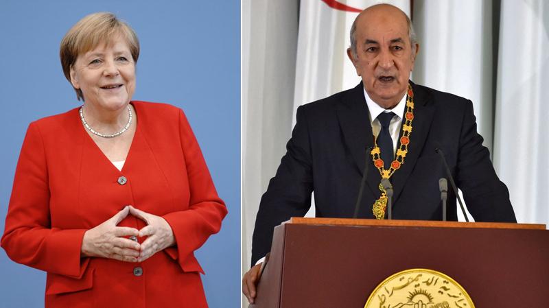 ميركل تدعو الرئيس الجزائري لحضور مؤتمر برلين حول ليبيا
