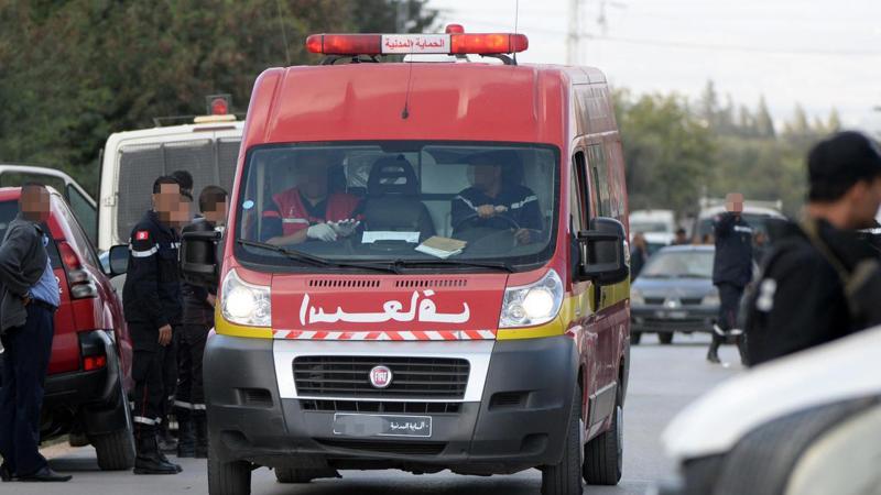 إصابة عوني حرس إثر انقلاب سيارة أمنية