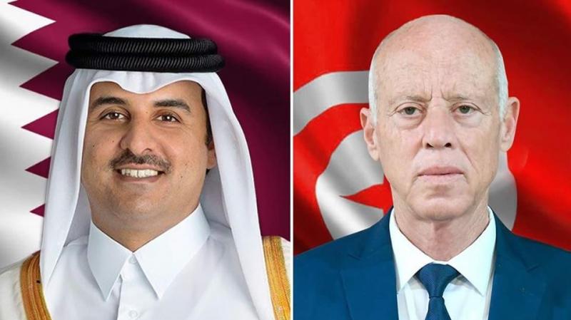أمير قطر في تونس بدعوة من رئيس الجمهورية
