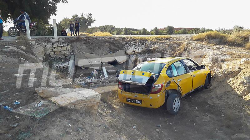 القيروان: سقوط ''تاكسي'' داخل منشأة مائية