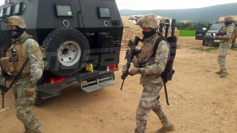 عملية جبل السلوم: حجز أسلحة وقنبلة يدوية ومخازن