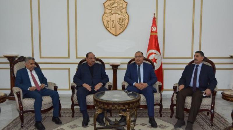 وزير الداخلية يستقبل نظيره الأردني وممثل وزير الداخلية العراقي