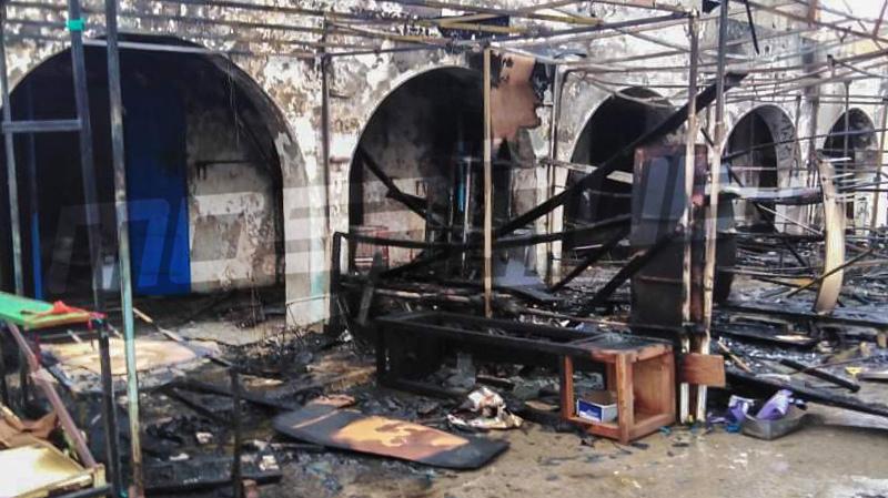 قبلي: حريق في سوق ''البياز''