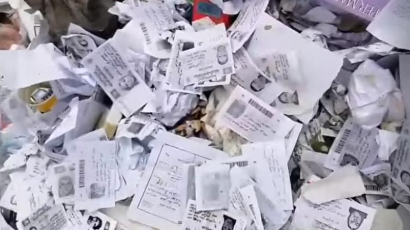 دوار هيشر: نسخ بطاقات تعريف مواطنين طلبوا إعانات ملقاة في الشارع