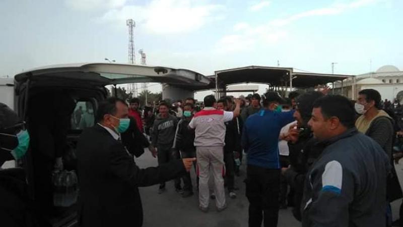سيدي بوزيد: تأمين عودة 145 شخصا كانوا عالقين في ليبيا