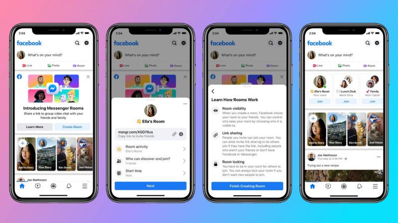 فيسبوك تدخل سباق تطبيقات مؤتمرات الفيديو بطرح ماسنجر رومز
