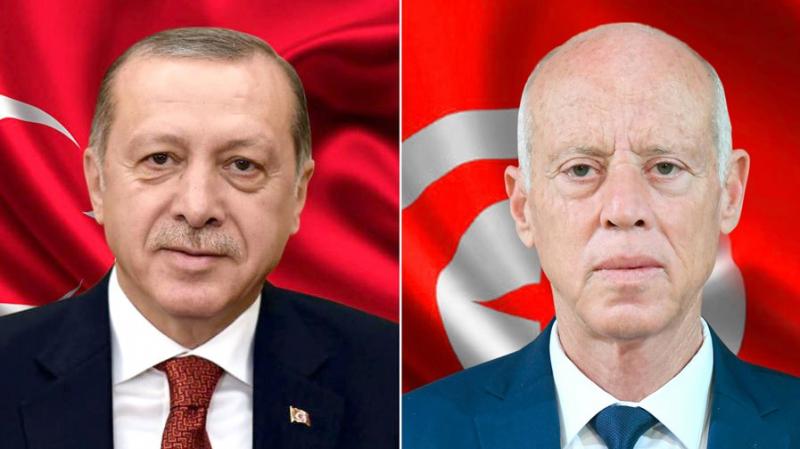 في اتصال مع أردوغان: رئيس الجمهورية يشكر تركيا على مساعدتها تونس