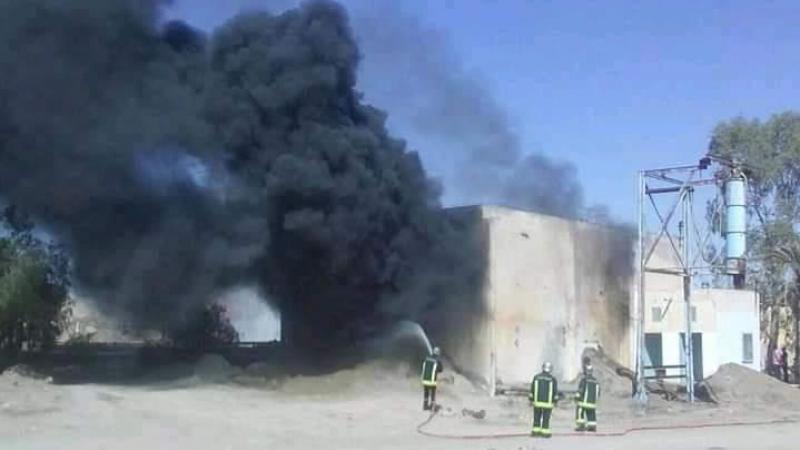حريق بمغسلة الفسفاط في إقليم أم العرائس