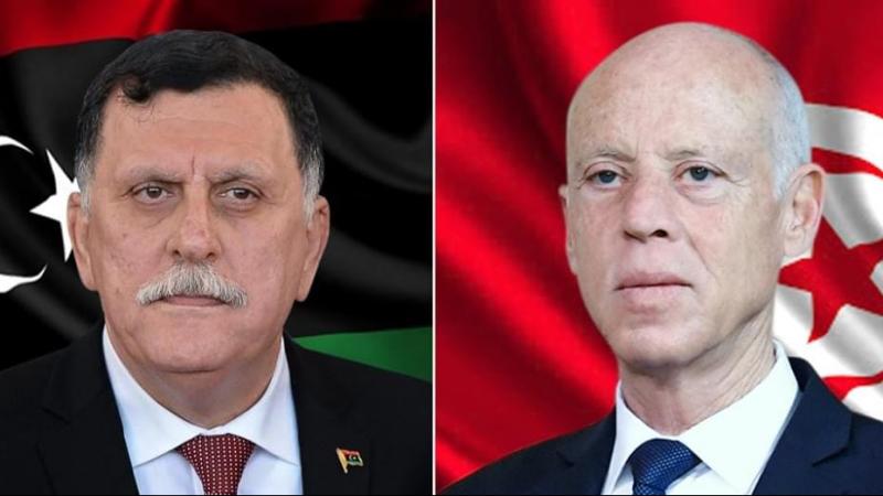 سعيّد يؤكد للسراج تمسك تونس بالشرعية الدولية