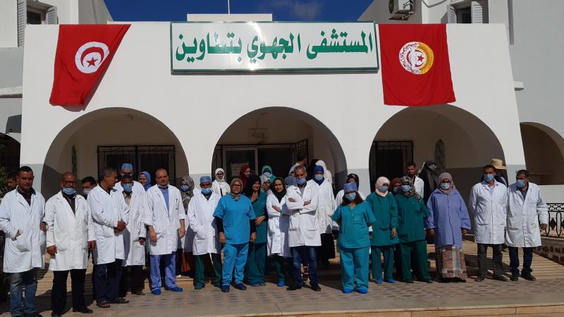 توقف الخدمات الصحية بالمستشفى الجهوي بتطاوين