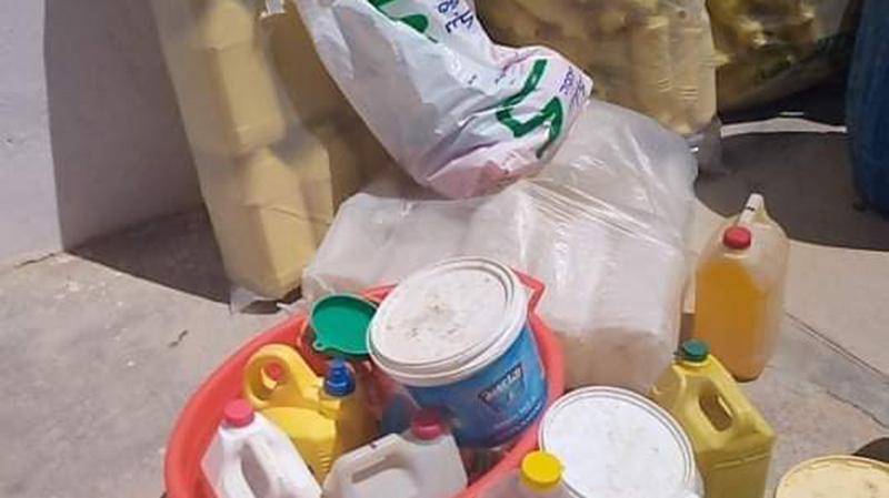 سيدي بوزيد: كشف مستودع عشوائي لصناعة مواد تنظيف وتعقيم