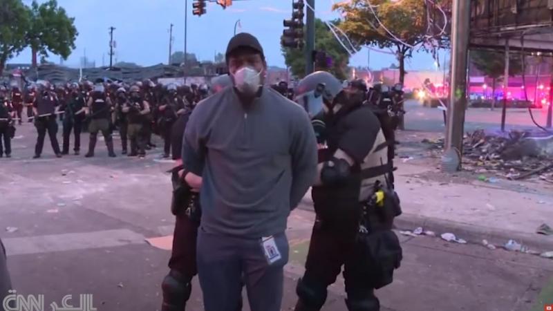 اعتقال مراسل CNN على الهواء في تغطية احتجاجات جورج فلويد في منيابوليس