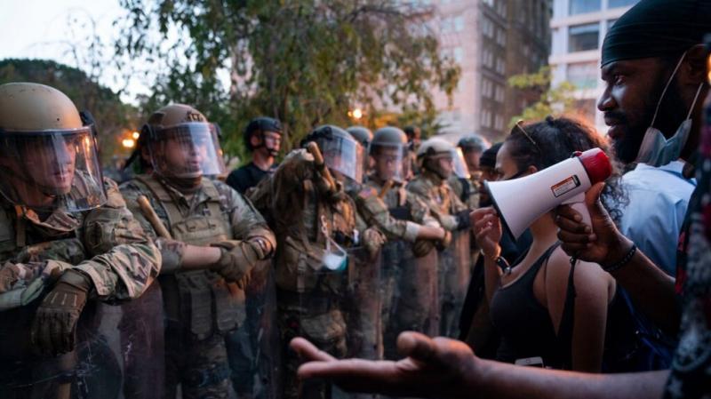 ترامب يستبعد الإستعانة بالجيش للتصدي للإحتجاجات