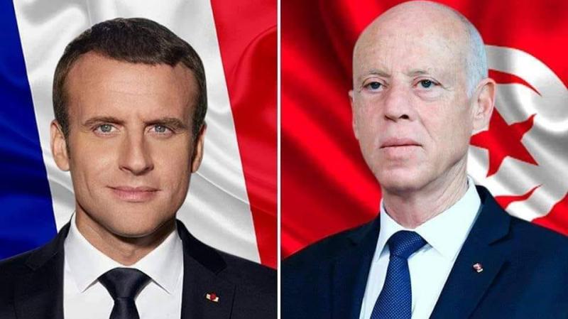 سعيّد لماكرون: نتمسّك بسيادة ليبيا وتونس لن تكون جبهة خلفية لأيّ طرف