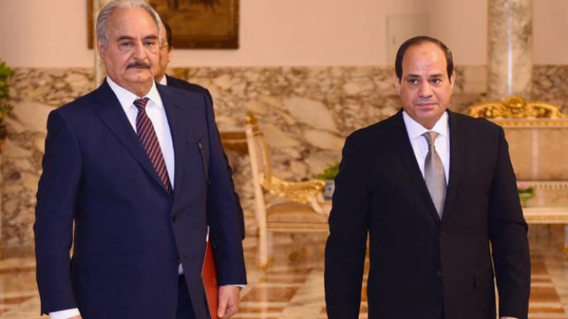 السيسي يلتقي خليفة حفتر وعقيلة صالح
