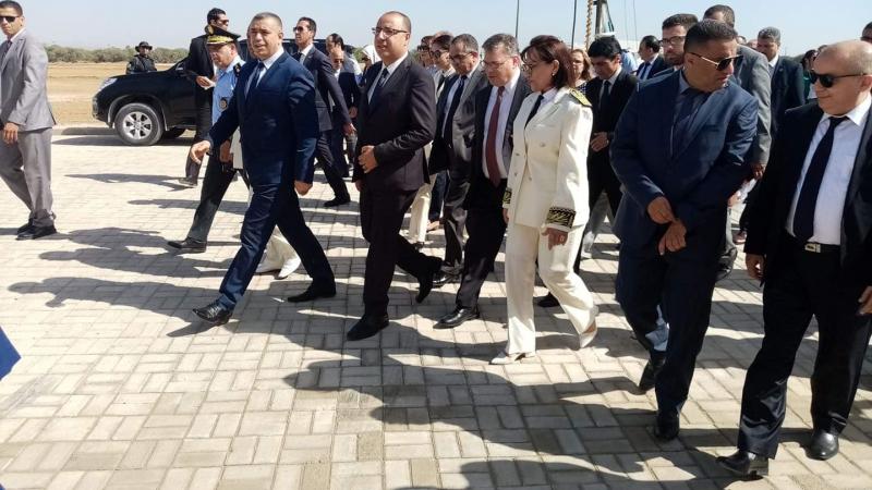 وزير الداخلية يضع حجز أساس بناء جزء من أكاديمية الأمن الوطني بالنفيضة