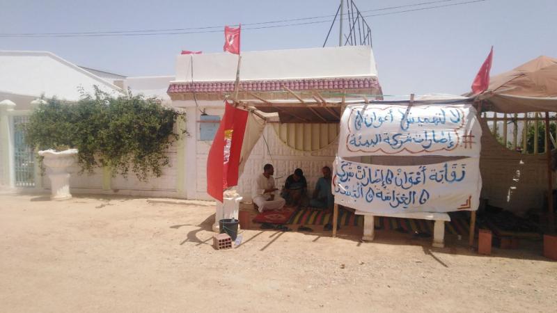 تطاوين: شركة البيئةتغلق أبوابهابسبب احتجاجات الأعوان